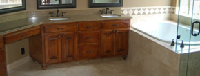 Master Bath: Custom Cabinets & Tile